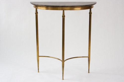 Brass Console with Marble Top