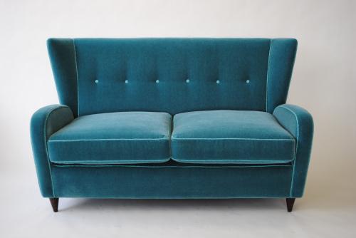 Mohair velvet sofa by Paulo Buffa
