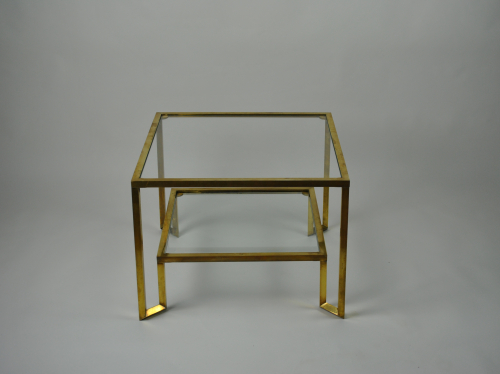 Two-tiered Brass Side-table
