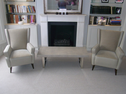 Pair of sculpted 50`s Italian chairs
