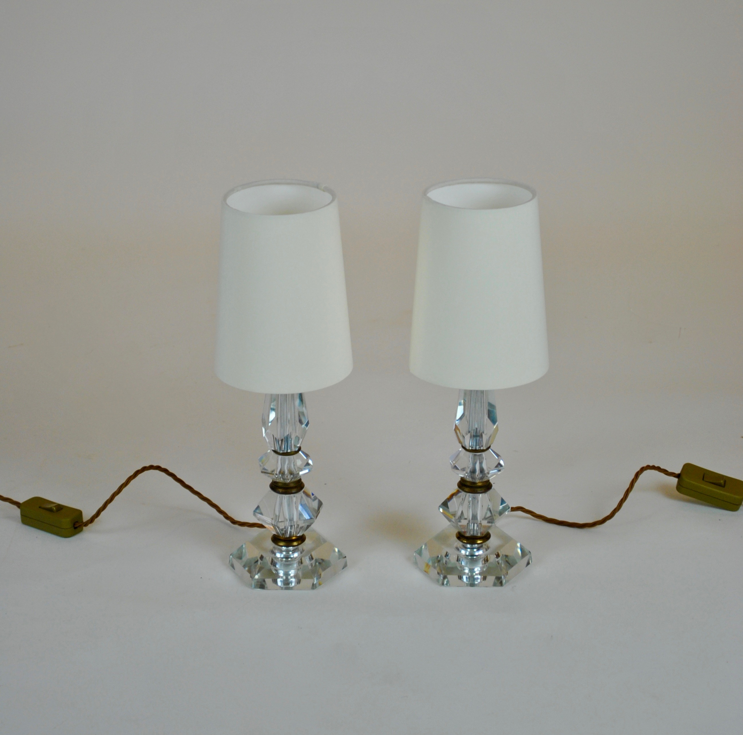 Pair of Art Deco bedside lamps