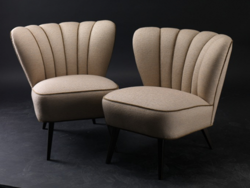 Biege 1950s Cocktail Chairs