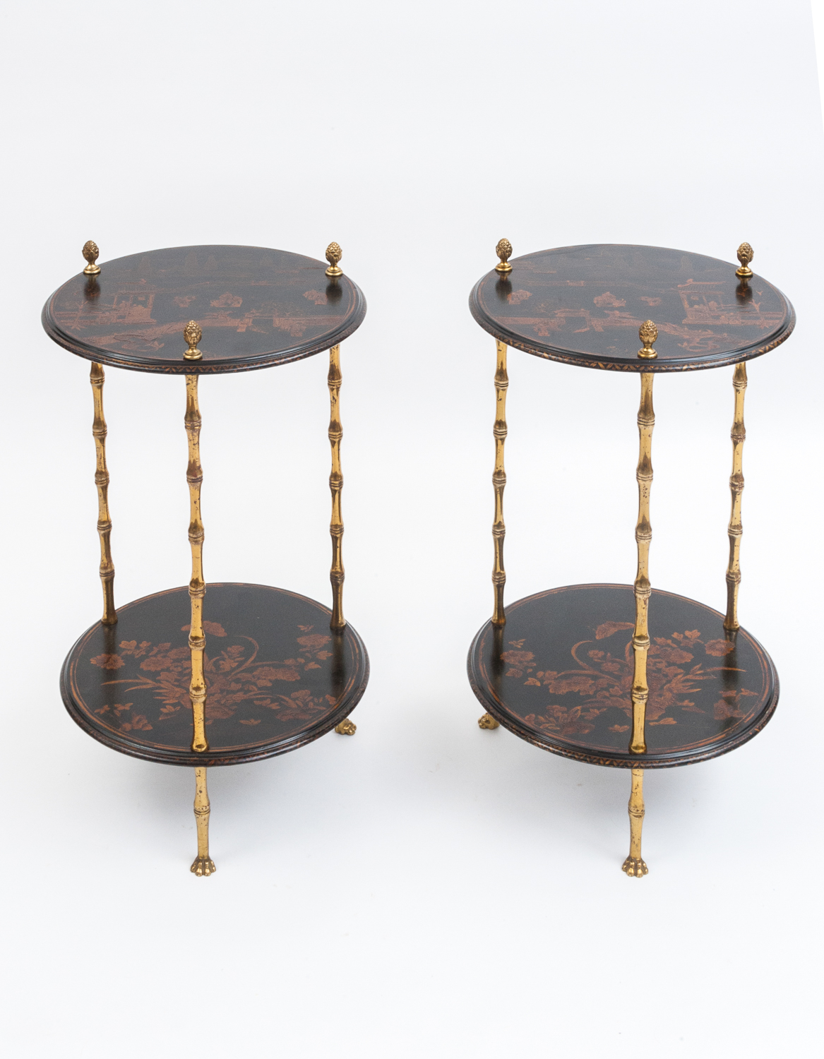 Pair of lacquered side tables