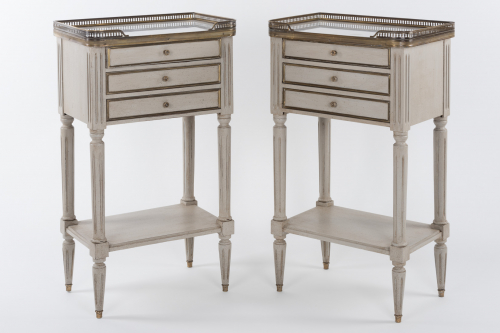 Painted French Bedside Tables