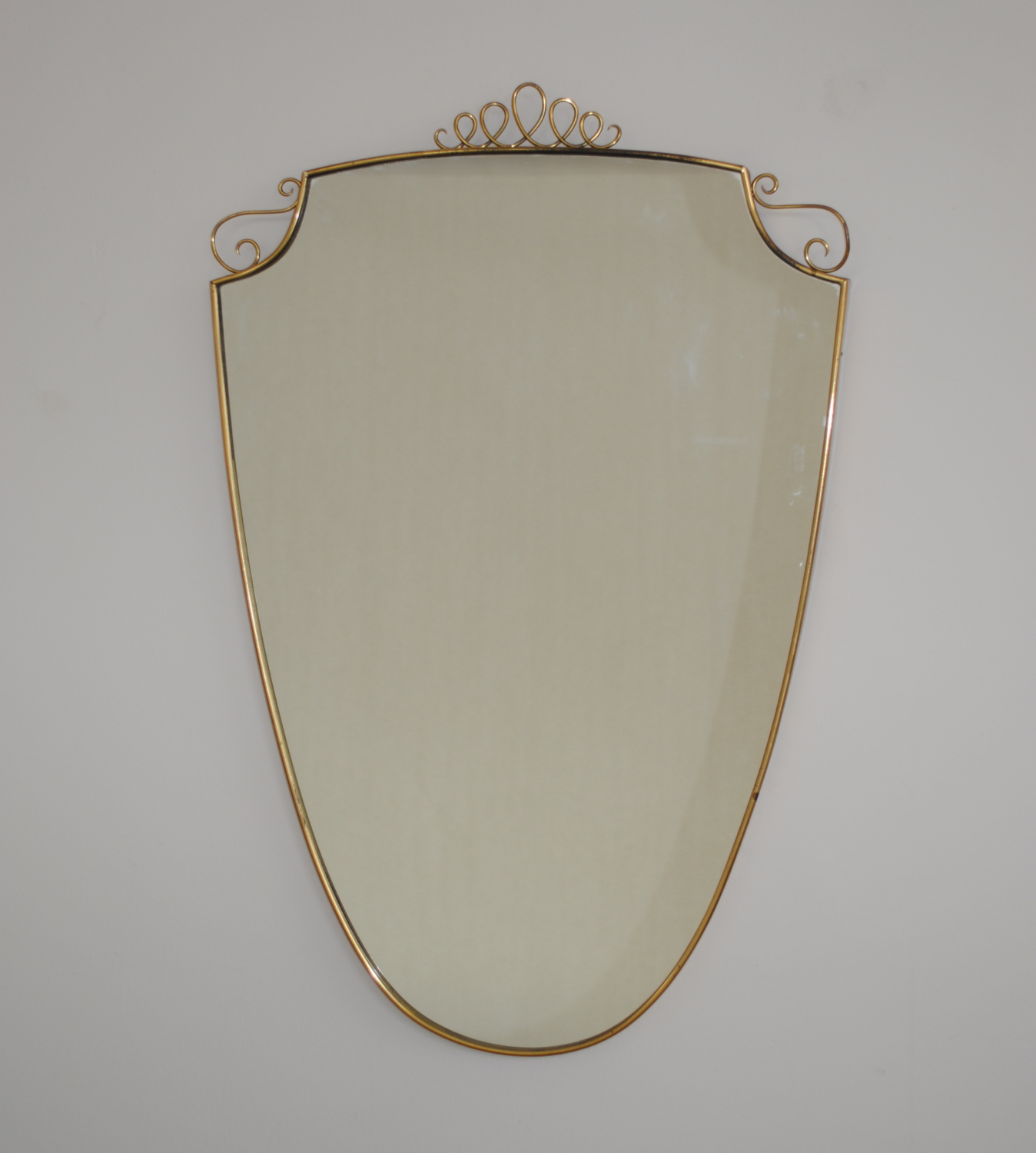 Decorative Brass Mirror