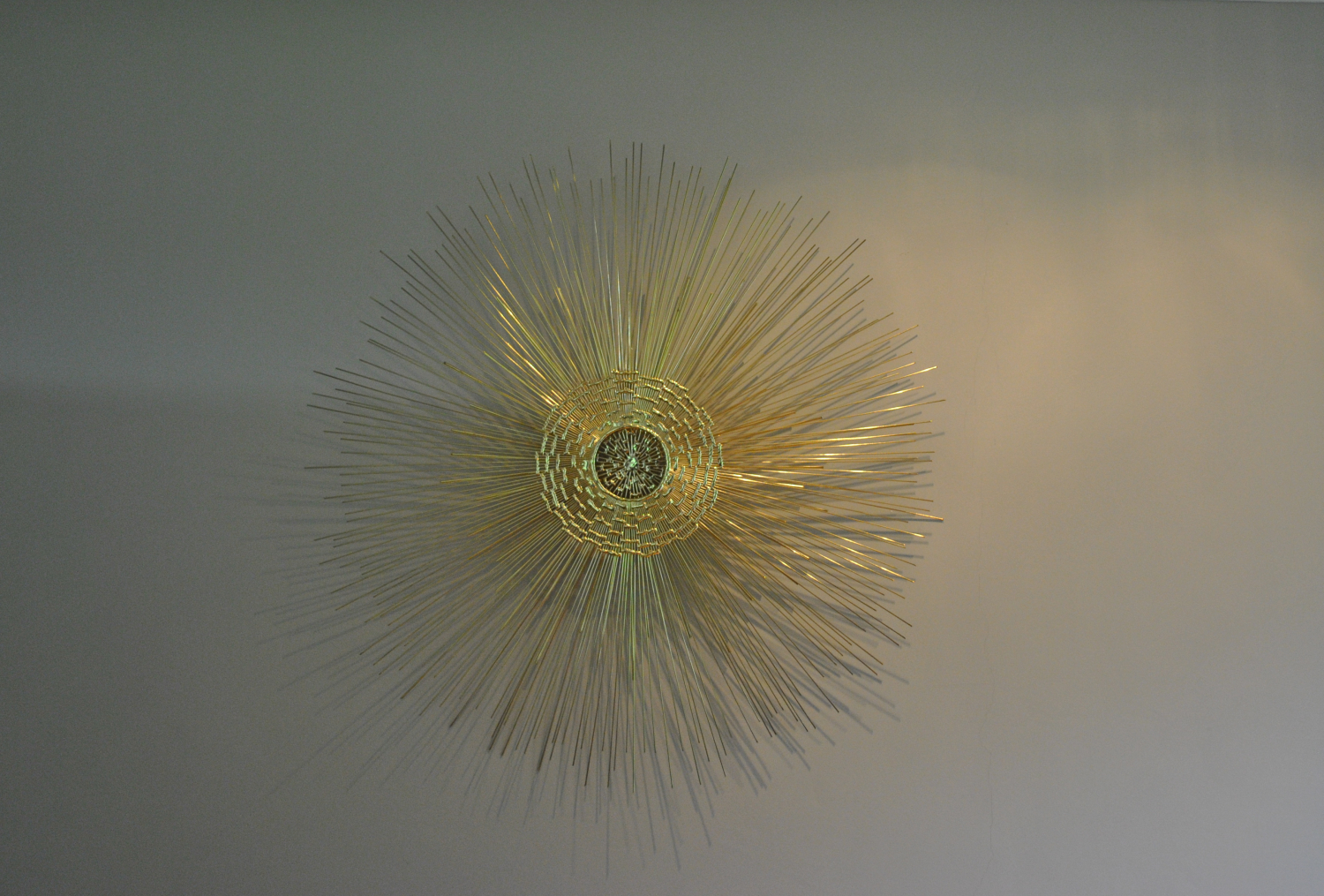 Sunburst Wall Sculpture (Brass)