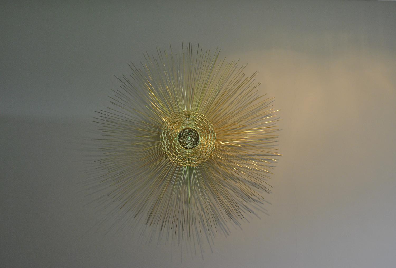 Sunburst Wall Sculpture (Brass)