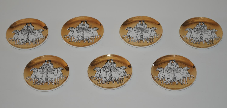 Set of 7 Fornasetti Coasters