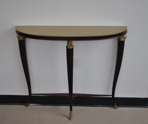 Console With Gold Painted Glass