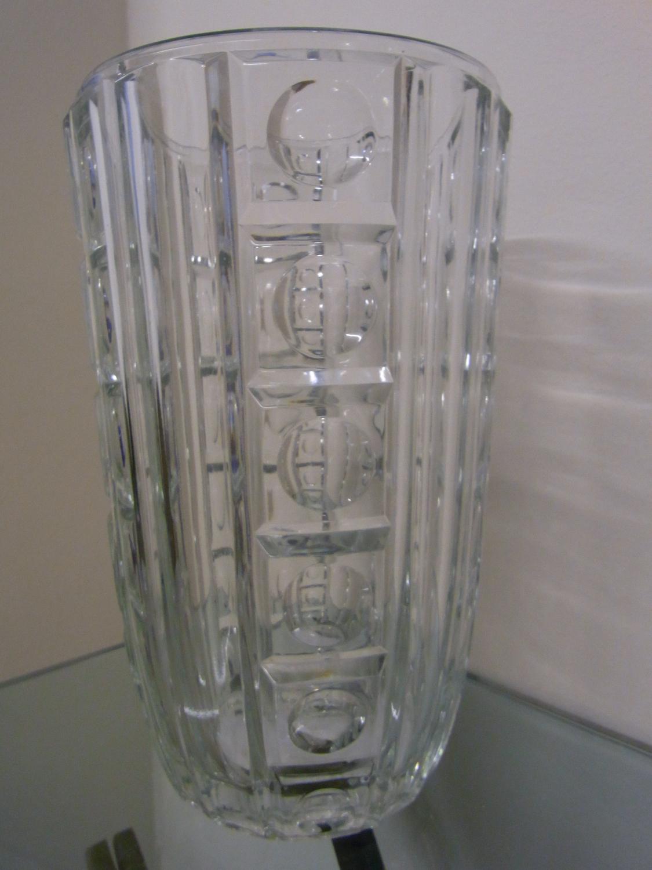 French 1940`s Crystal Vase