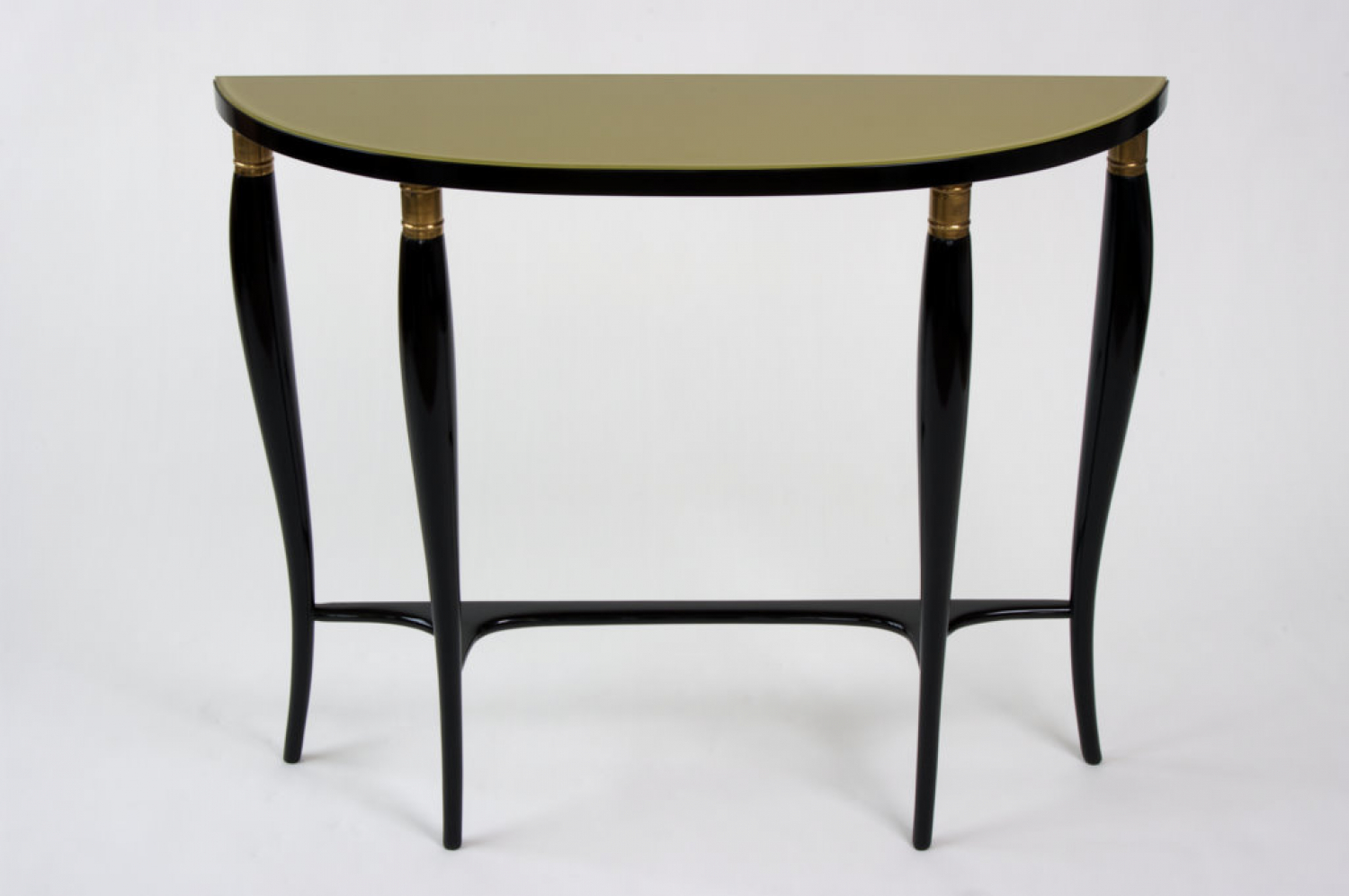 Mid Century ebonised Italian console table