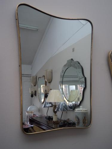 1950`s Brass Mirror