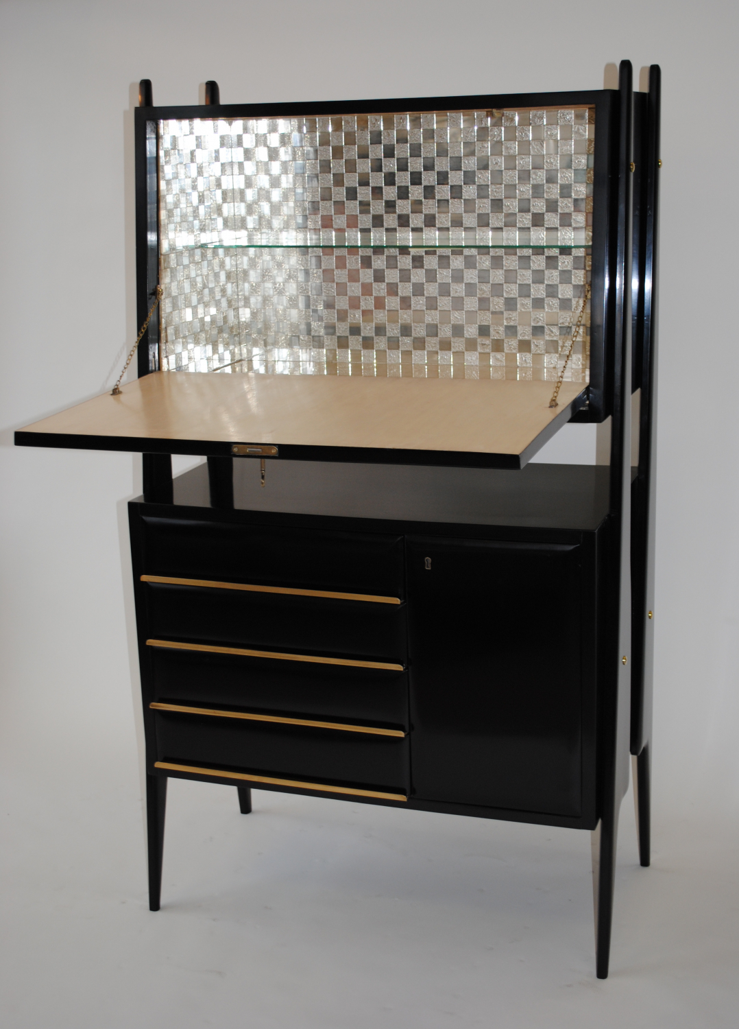 1950`s Italian ebonised Bar/ Cabinet