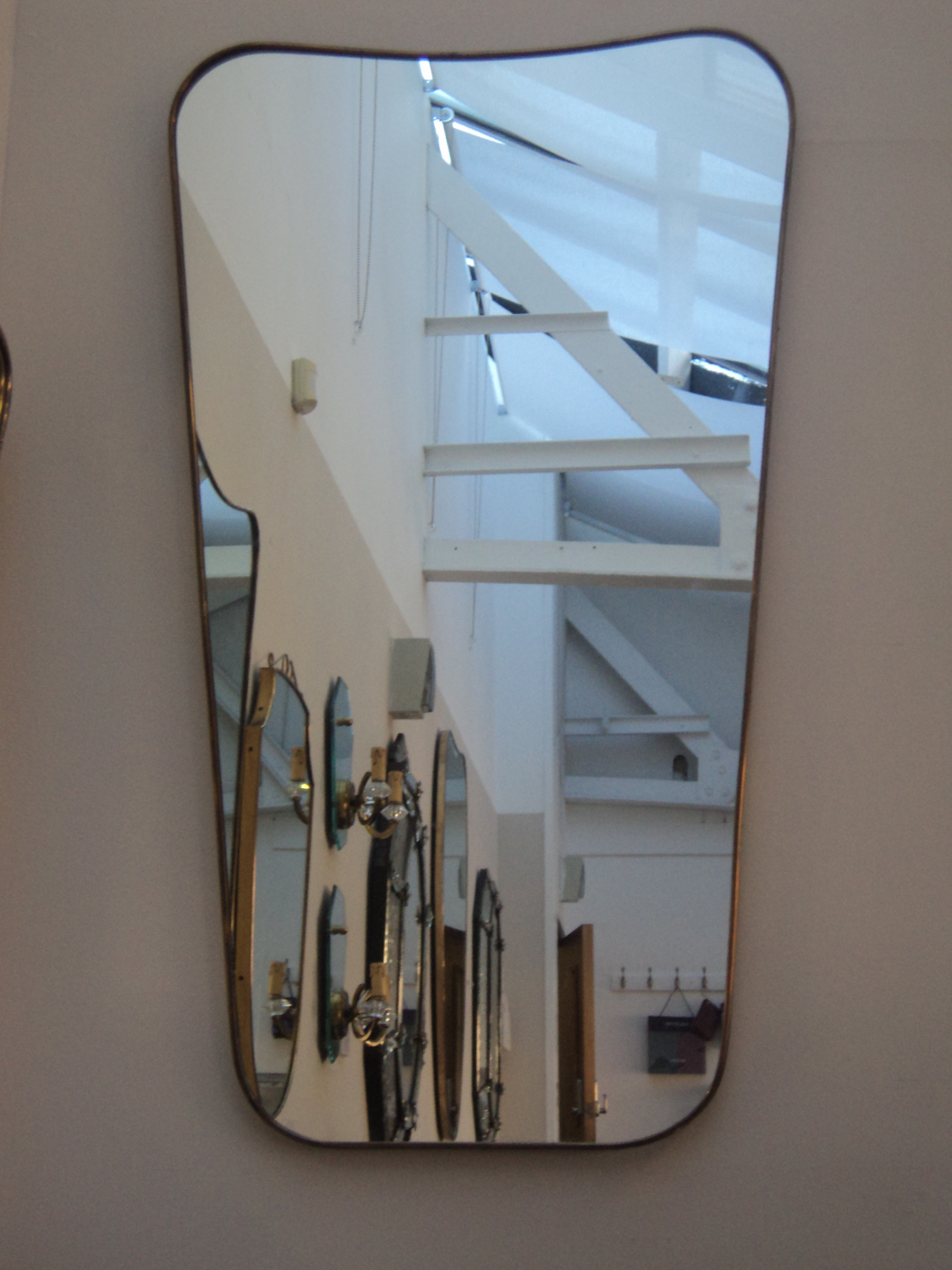 Large Italian 50`s brass Mirror