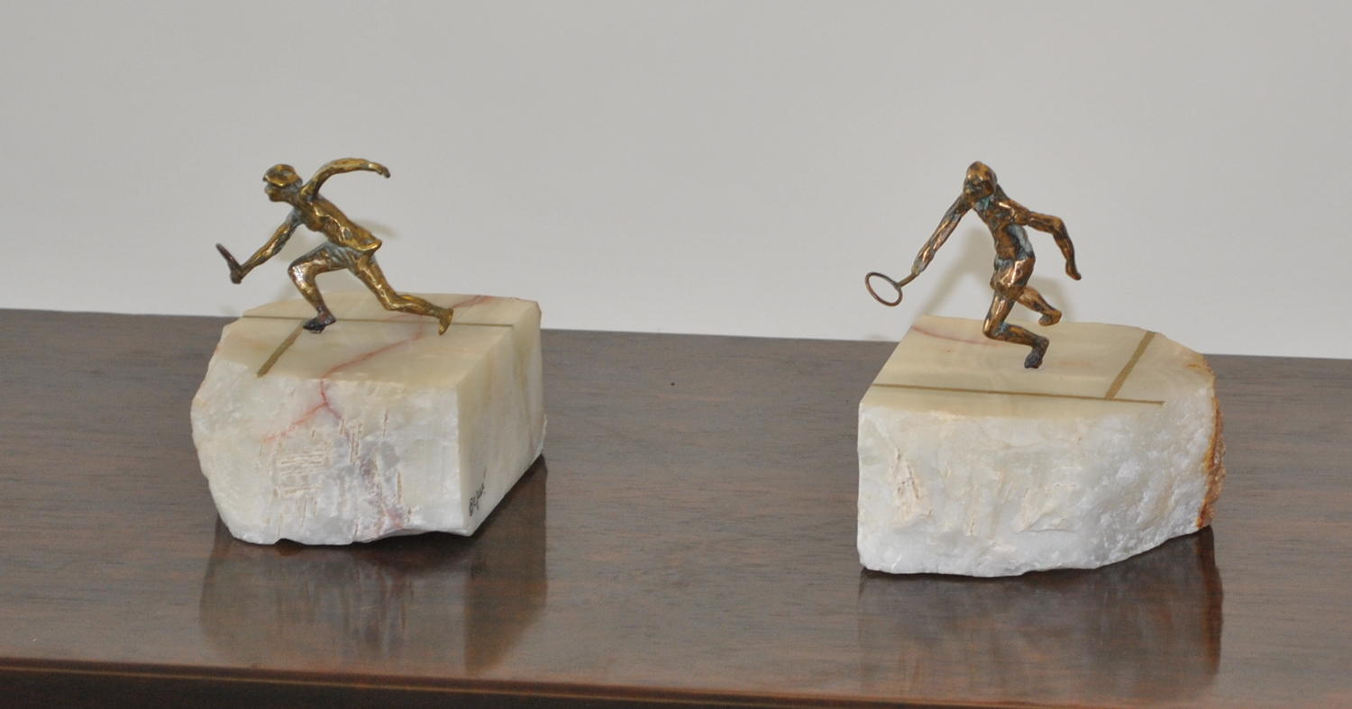 Tennis Player Book Ends