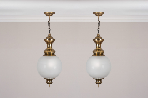Pair of Dominioni Lanterns