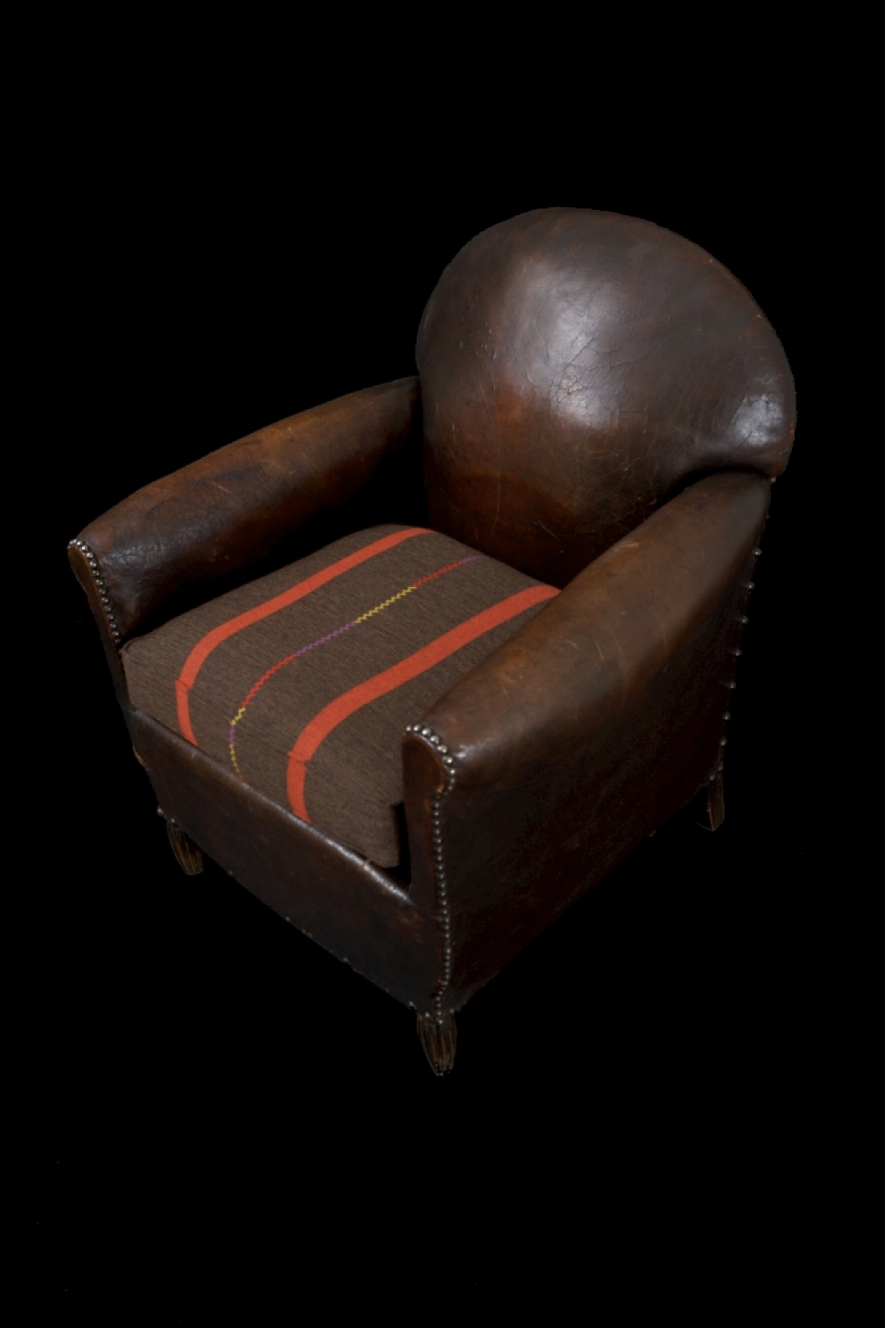 1930`s leather club chair