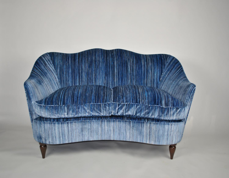 Sculpted Sofa in Romo Velvet