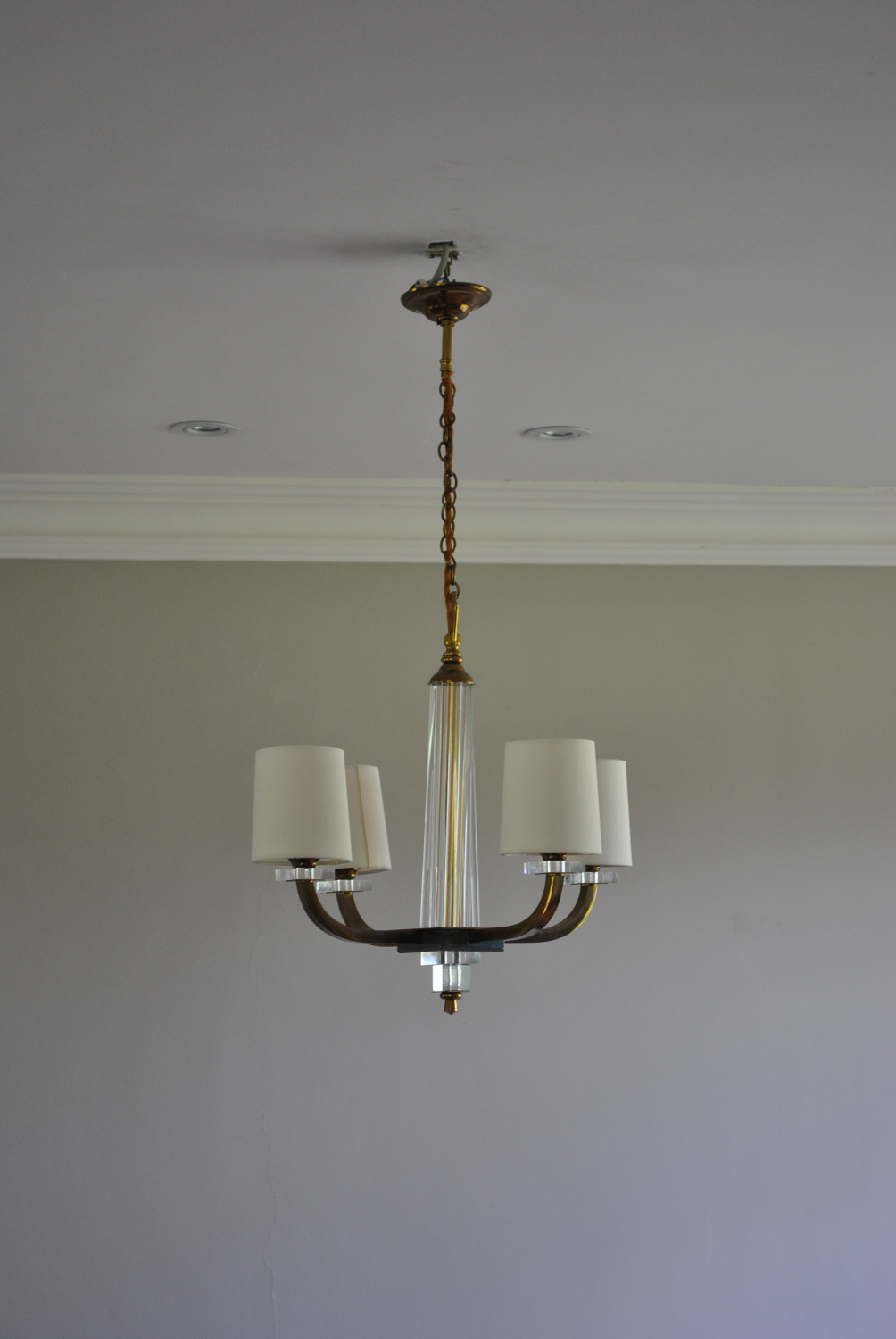 Art Deco 4 Arm Chandelier