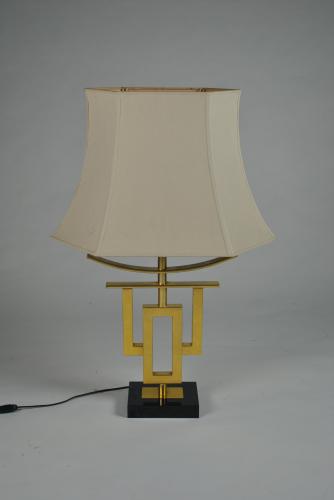 Gilt Metal Chinese Lamp