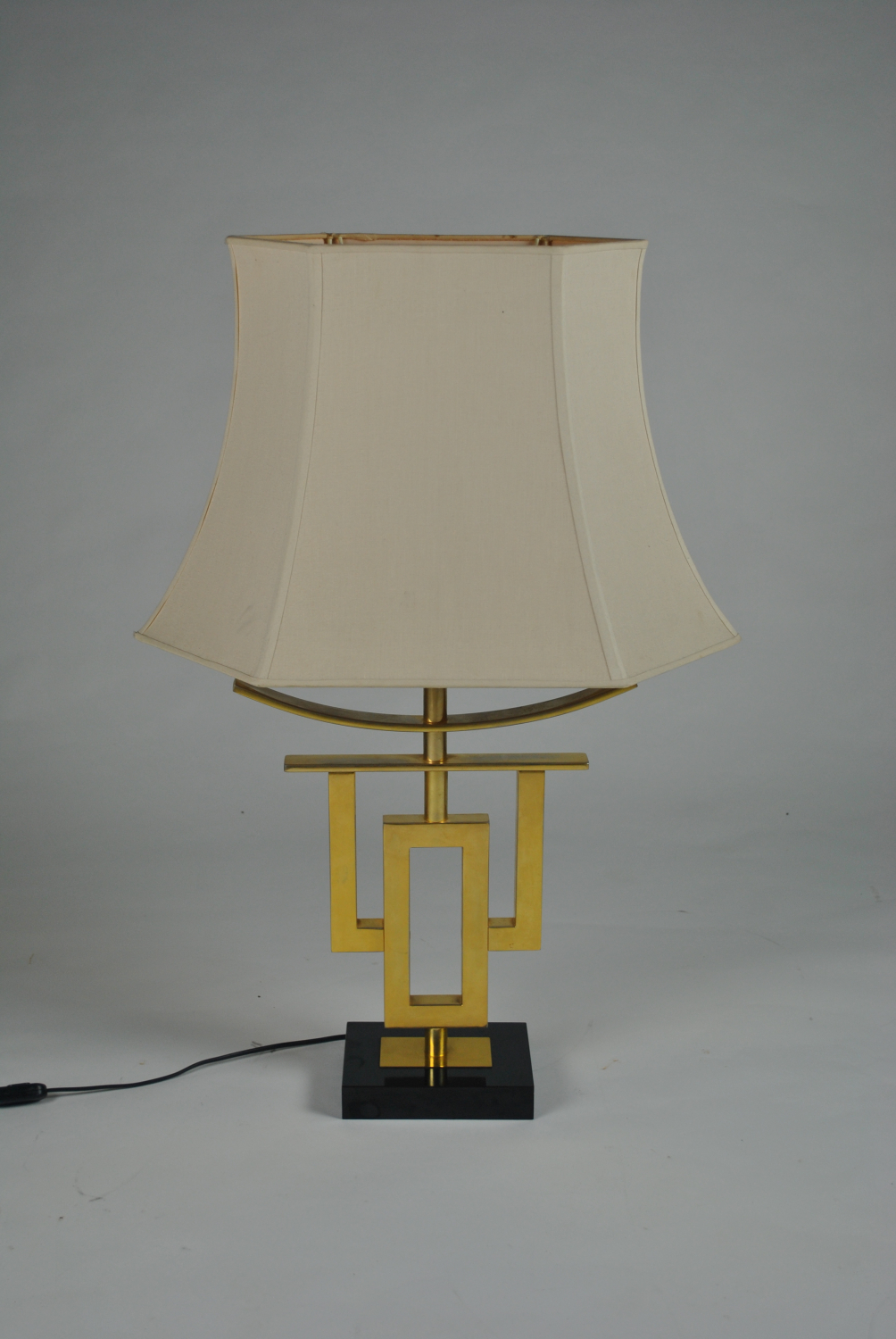 Gilt Metal Chinese Lamp