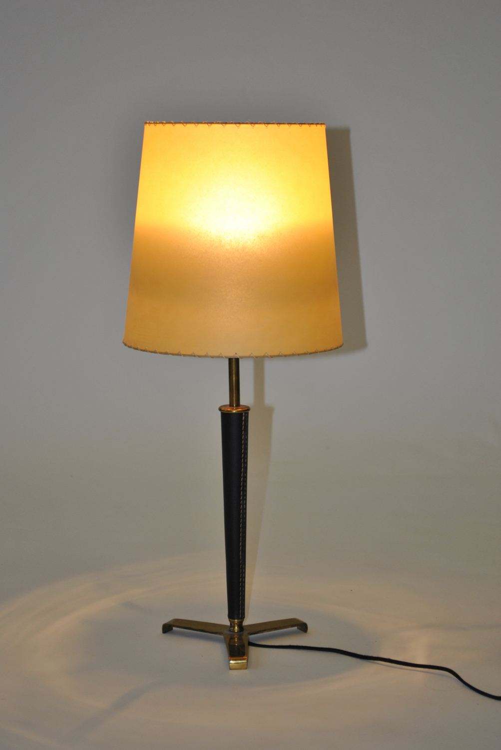 Leather and Brass Lamp