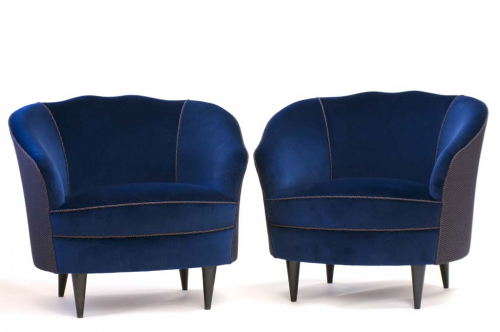 50`s Italian sculpted chairs