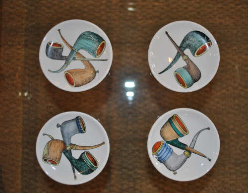 Fornasetti Style Pipe Coasters