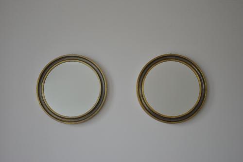 Pair of Brass Circular Mirrors