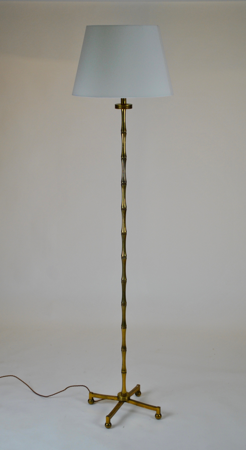 French brass floor lamp