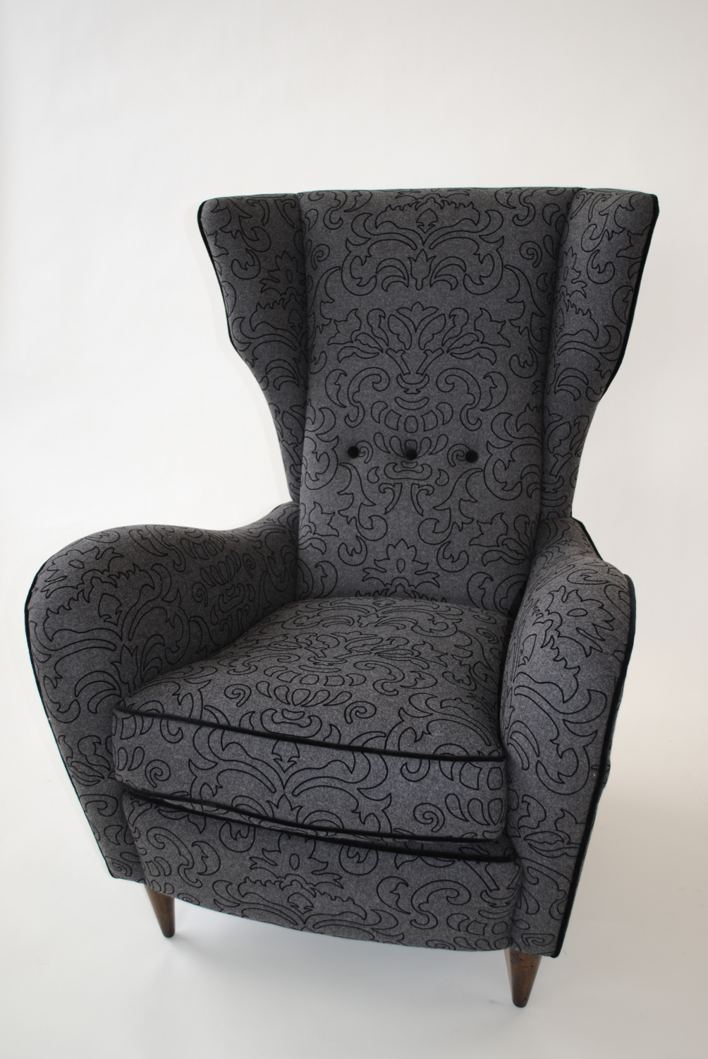 Single Sculpted Italian Wing chair