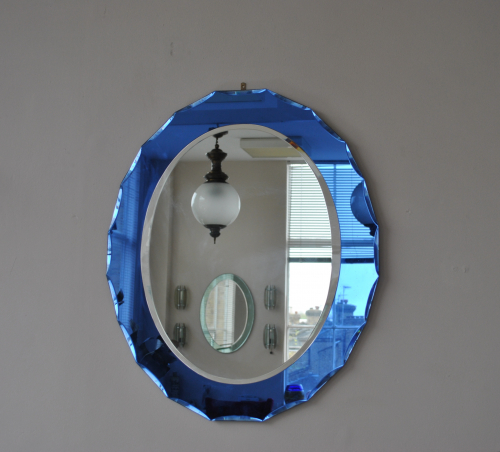Blue Bordered Mirror