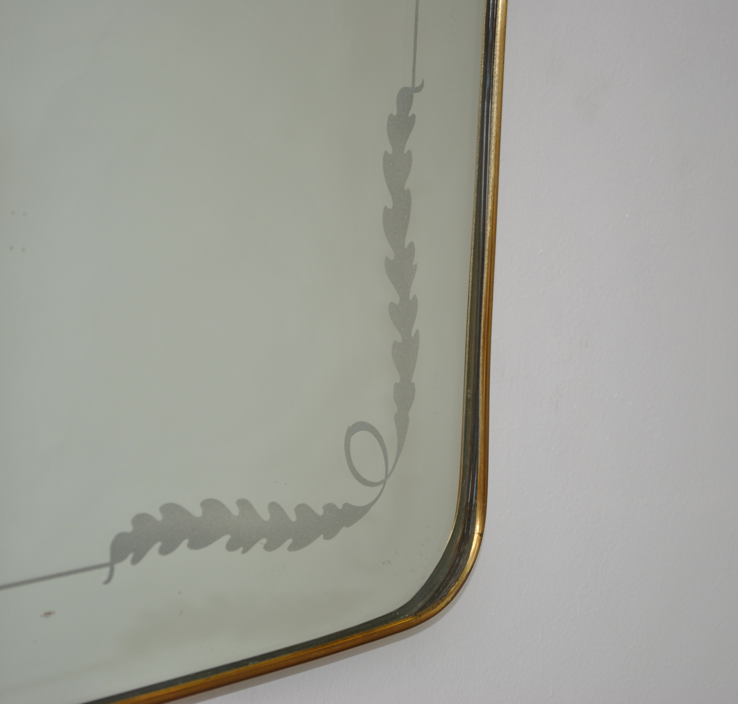 Large Brass Etched Mirror
