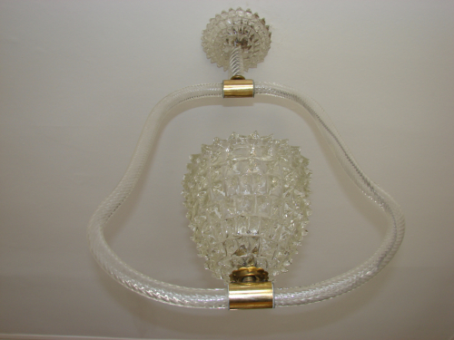 Barovier Murano Cut Glass Chandelier