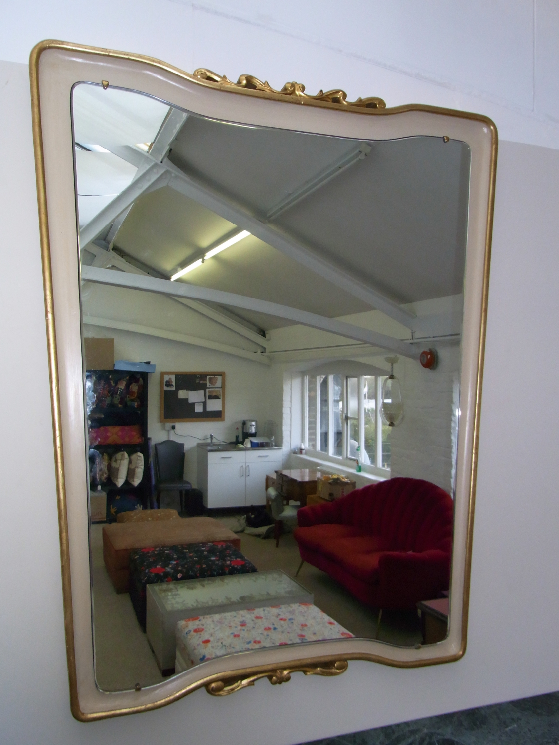 Borsani Painted and Gilded Mirror