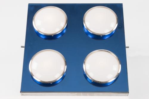 Blue glass wall /ceiling light