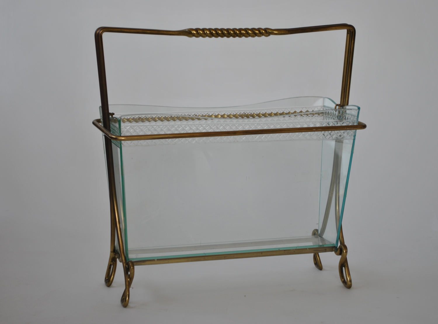 Glass & Brass Magazine Rack