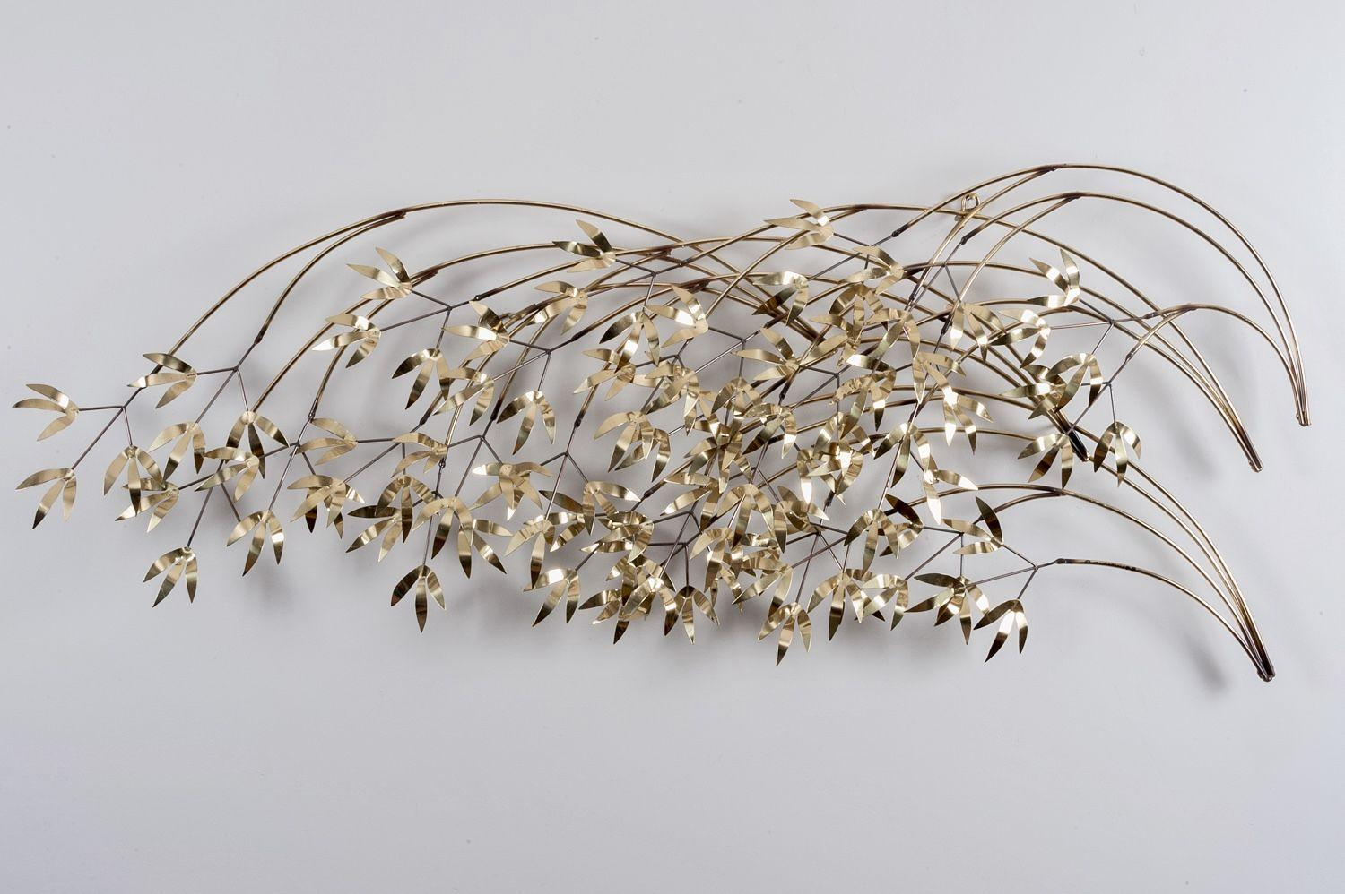 Falling leaves wall sculpture