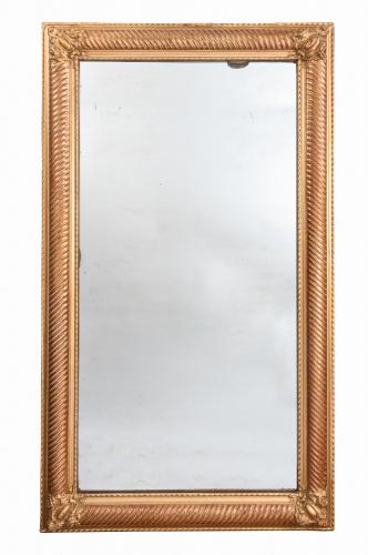 French gilt mirror / mercury glass