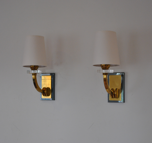 Single-Arm Brass Wall Lights