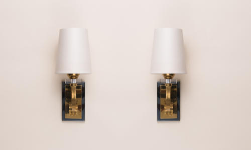 French Brass Wall Lights