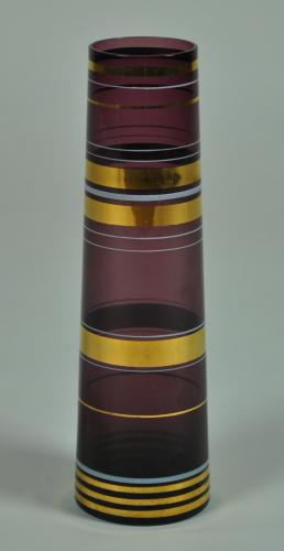 Gilded Purple Vase