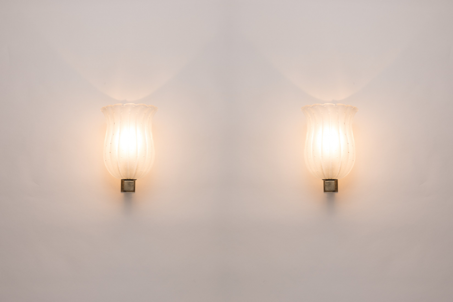 Pair of Venini wall lights