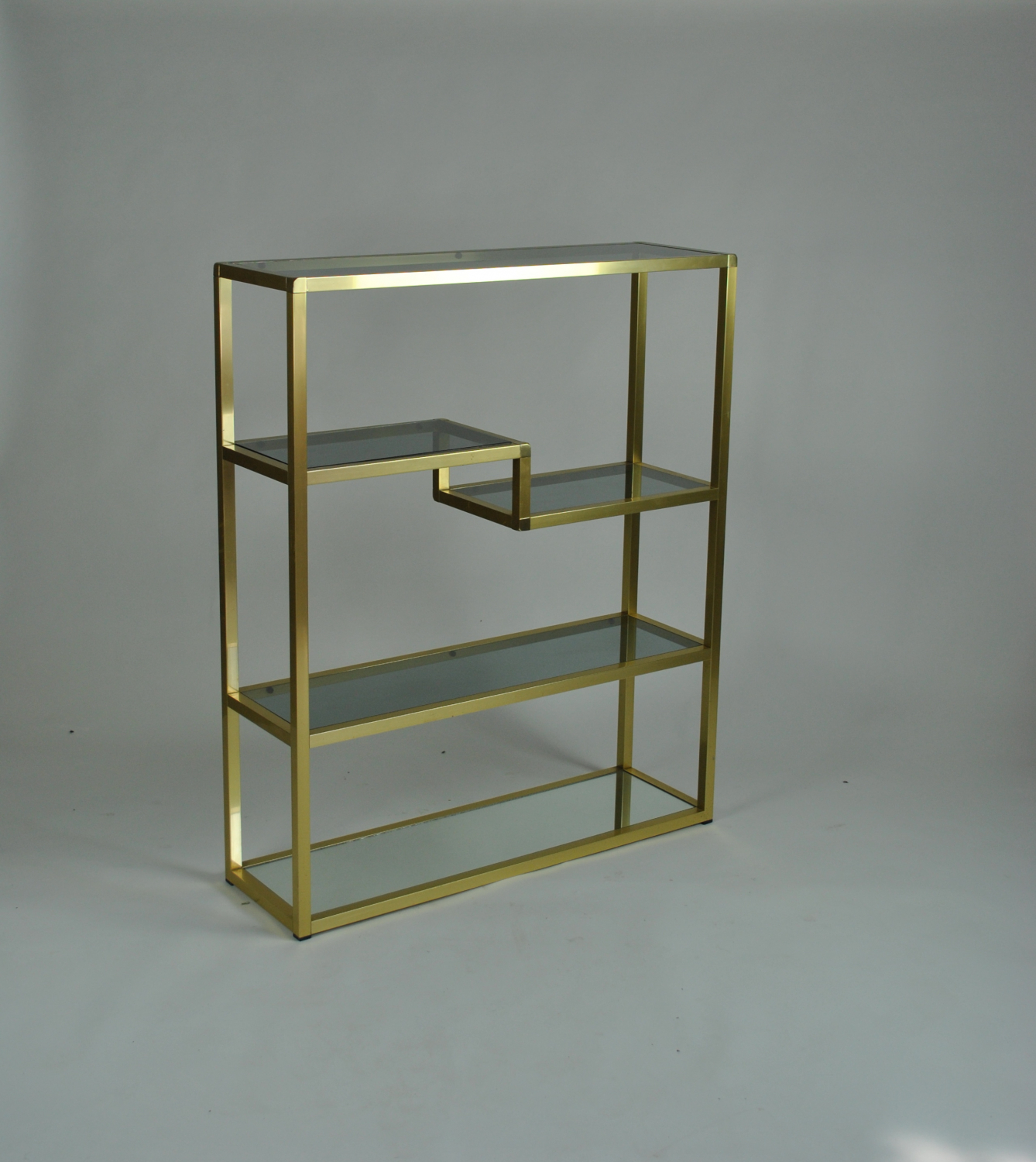 Gilt Metal Etagere / Shelving Unit