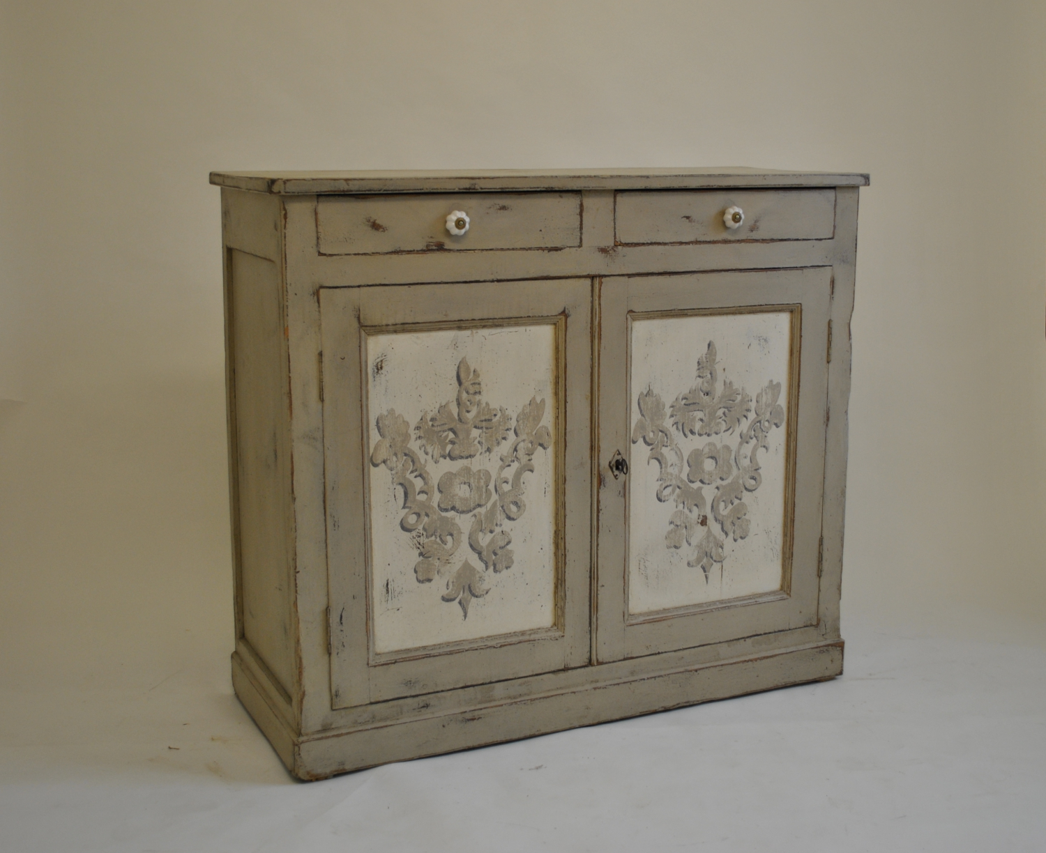 19th Century Painted Cupboard