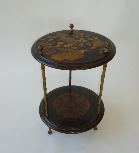 Circular Lacquered Side Table