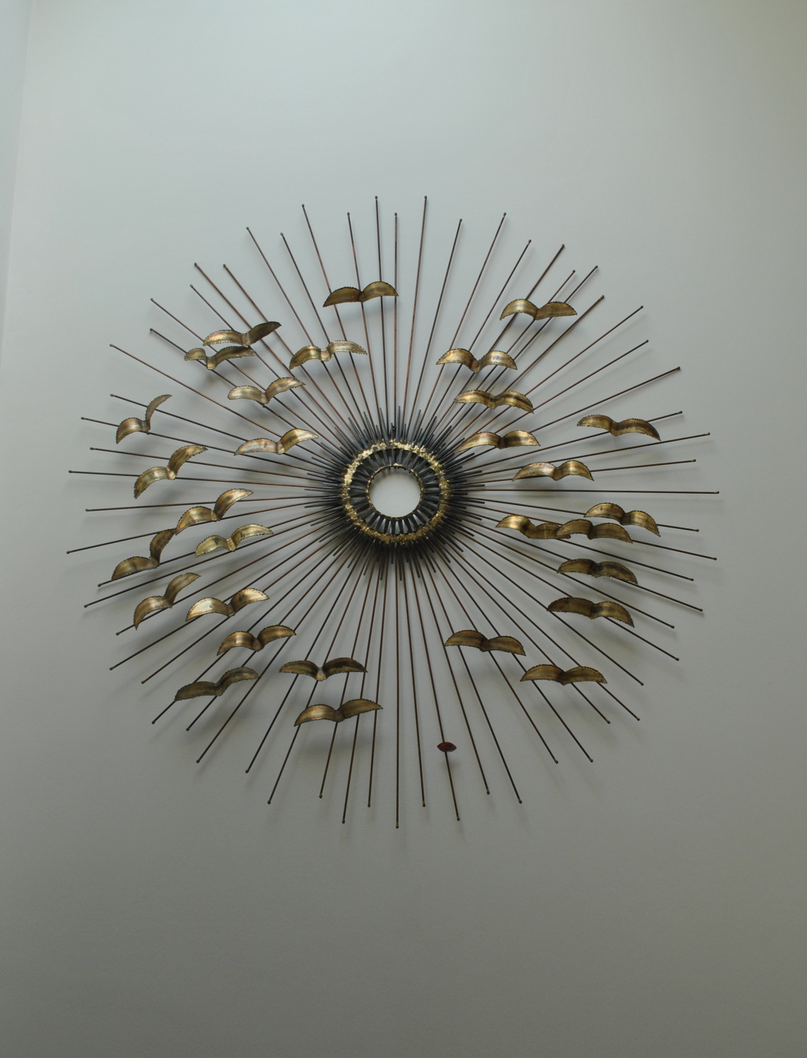 Sunburst Wall Sculpture With Birds