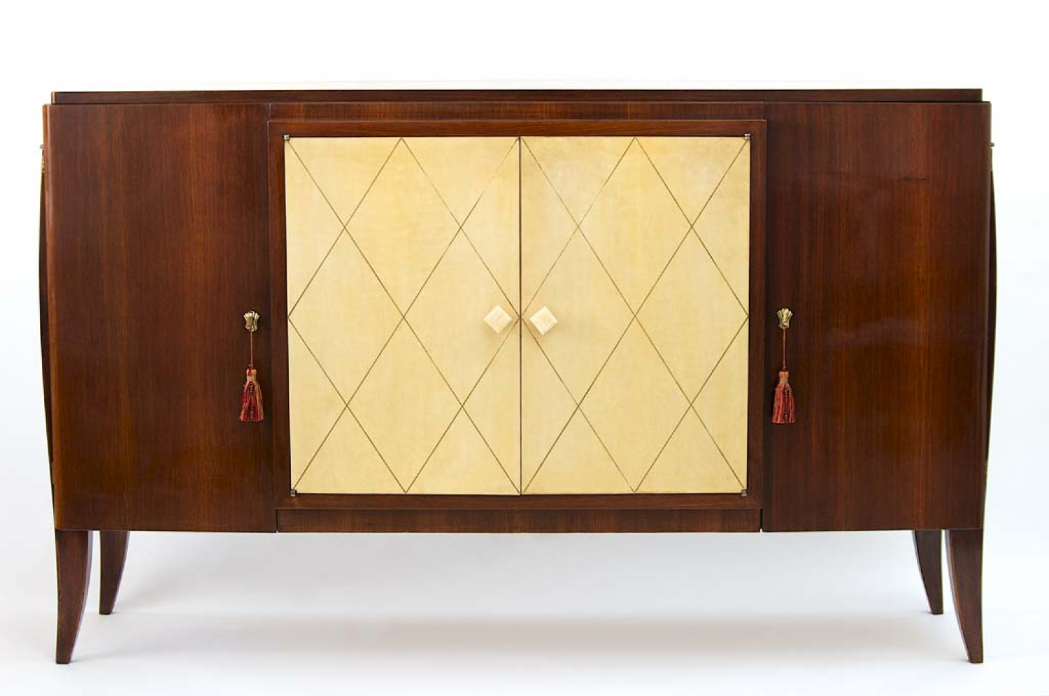 40`s rosewood and parchment French sideboard
