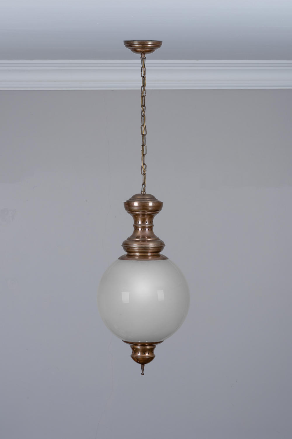 Patinated brass lantern