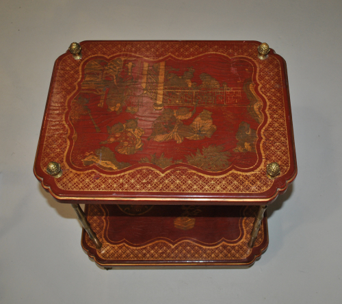 Lacquered Bagues Side Table